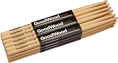 Goodwood 12-Pack Drumsticks 5A Wood
