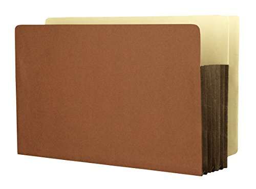 Expansion Tyvek Pockets (Star  Heavy Duty Side Tab File Pockets, Expanding Legal Size Red Rope 5-1/4 Inch with Full Tyvek Expansion 25 PER BOX)