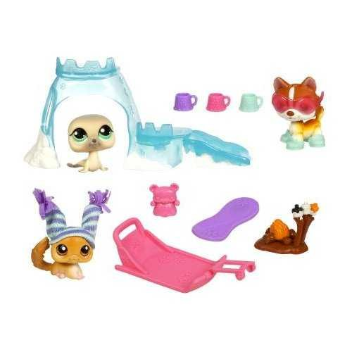Littlest Pet Shop Arctic Adventure Playpack with 3 Pets - Littlest Pet Shop Arctic