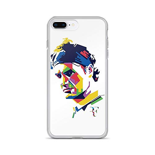 (iPhone 7 Plus/8 Plus Pure Clear Case Cases Cover Roger Federer Art)