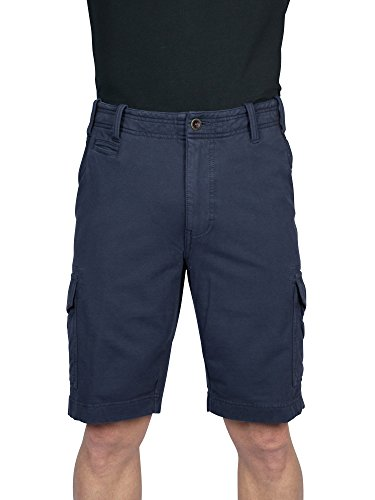 Spandex Terry Shorts (THADDEUS KNIT CARGO Mens 95% Cotton 5% Spandex French Terry Cargo Short Ink 40)