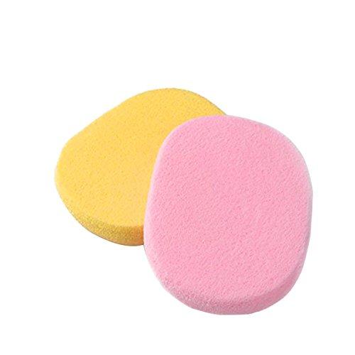 Saim 2 Pcs Round Shape Body Face Facial Makeup Cosmetic Powder Puff Soft - Round Facial Shape