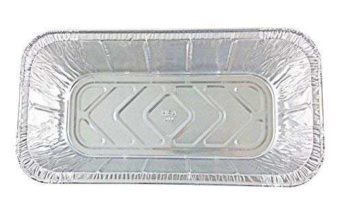 Handi-Foil of America Hfa 1/3 Third-Size Deep Aluminum Foil Steam / 5 lb Loaf Pan w/Foil Lids (Pack of 50 Sets) by Handi-Foil (Image #3)