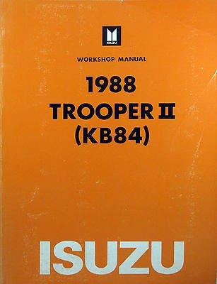amazon com 1988 isuzu trooper ii kb84 workshop manual rh amazon com 1992 isuzu bighorn workshop manual isuzu bighorn service manual