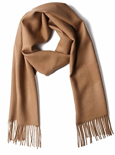 100% Pure Baby Alpaca Scarf, Solid Natural Dye-free Colors (Camel) ()