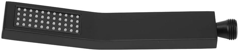 pulverizador de Alta presi/ón Individual Cabezal de Ducha Cuadrado Negro Mate Cromado Pulido de Lux de lat/ón