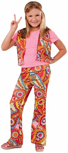 Hippie Flower Child Costume - Forum Novelties 60's Hippie Girl Child Costume, Medium