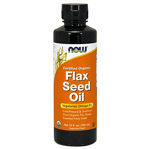 Now Supplements, Certified Organic Flax Seed Oil Liquid, Cold-Pressed and Unrefined, - Finisher Fax