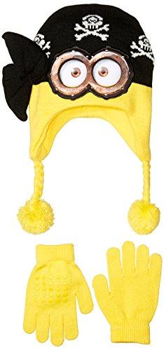 Despicable Me Little Boys' Pirate Minion Laplander and Glove Set, Multi, One (Minion Gloves)