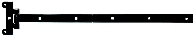 GAH-Alberts 307011 Kreuzgehä nge, mit verpresstem Stift, schwarzer Tauchlack, Band: 391 x 30 mm, Scharnier: 121 x 51 mm Gust. Alberts GmbH & Co.KG