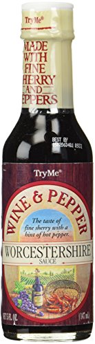 Try Me Wine & Pepper Worcestershire Sauce 5oz (Pack of 6)