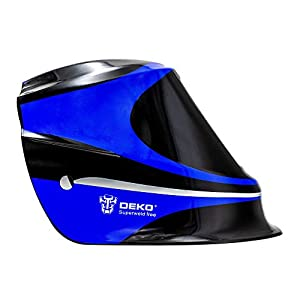 Welding Helmet Solar Power Auto Darkening Professional Mask with Adjustable Shade Range #9 - #13 MIG MMA Electric Welding Mask Helmet Welder Cap Welding Lens For Welding Machine Blue by XUGEL GROUP
