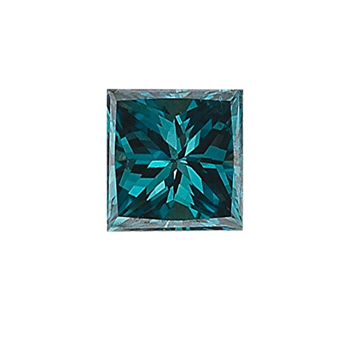 Mysticdrop 0.32 Cts SI1 Princess (1 pc) Loose Fancy Blue Diamond {Diamond Appraisal Included} ()