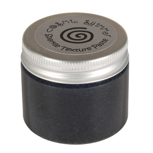Cosmic Shimmer Sparkle Texture Paste, Midnight Black Craftiarts CSPASTSPMID