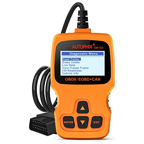 (Car Code Reader AUTOPHIX OM123 OBD2 Scanner Auto OBDII Scan tool for Vehicle Checking Engine Light Car Diagnostic Scan Tool- Orange)
