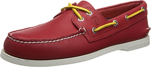 Sperry Top-Sider Men's Authentic Original Flag Boat Shoe,Red/Yellow,11 M US