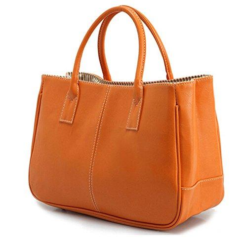 Bolso Simple Oficina Señoras Superior Hombro Asa Las Naranja De Mujer Bolsa Diseño DELEY Negocio z5qTUZxw