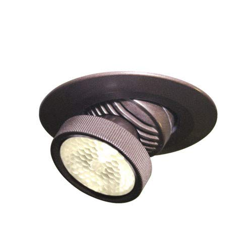 (Bruck Lighting 135731bz/3/fl - Ledra R LED Semi-Recessed Spot Light with J-Box & Driver - 45 Degree Lens - 120lm/3000K - Bronze Finish)
