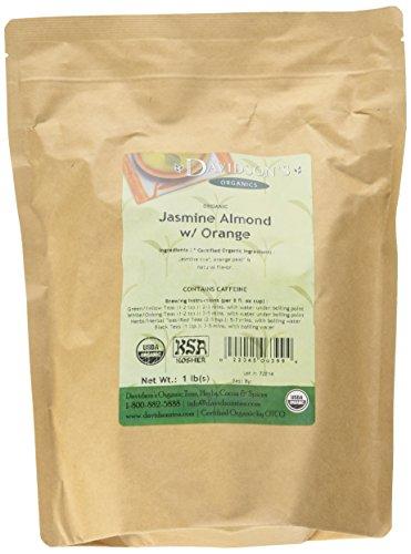 - Davidson's Tea Bulk, Jasmine Almond with Orange, 16-Ounce Bag