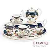 Vanderbilt de porcelana miniatura Teaset Diseñado desde casa Biltmore 1888Sevres Juego de té