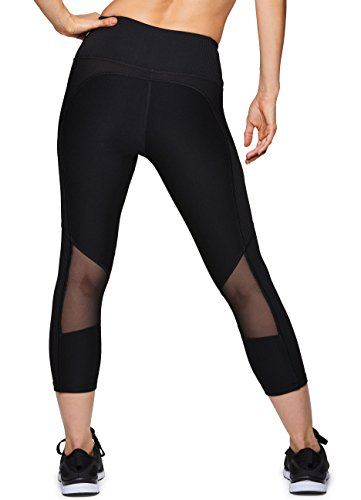 2507732d25807 RBX Active Women's Athletic Gym Workout Yoga Capri Length Legging Mesh