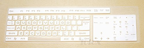 Folox Desktop Computer Keyboard Skin Protector Cover for Ful