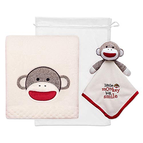 (Baby Starters 2-Piece Sock Monkey Snuggle Buddy and Blanket Set)