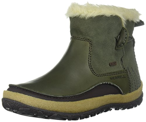 Merrell Women's Tremblant Pull on Polar Waterproof Snow Boot, Dusty Olive, 5 M (Best Merrell Bitters)