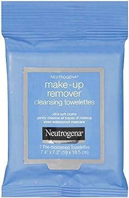 Neutrogena maquillaje Remover Limpieza Toallitas towelettes (7 unidades) tamaño de viaje