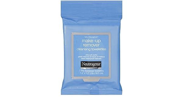Neutrogena maquillaje Remover Limpieza Toallitas towelettes (7 unidades) tamaño de viaje: Amazon.es: Belleza
