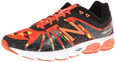 New Balance Men's M890 Alpha Running Shoe,Orange/Black,8 D US