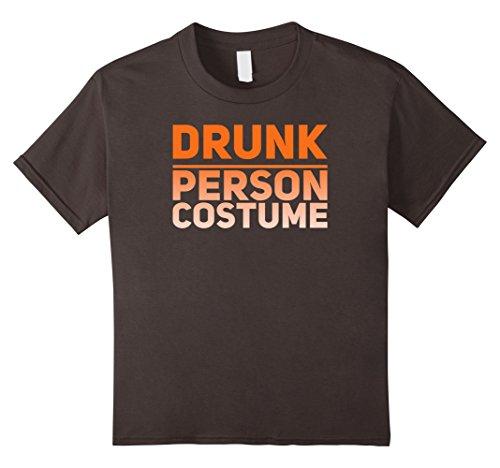 Kids DRUNK PERSON COSTUME Funny Halloween Tee 4 (Funny Four Person Halloween Costumes)