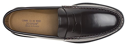Agos Mens Classic Penny Loafer Slip On Casual Marrone Scuro