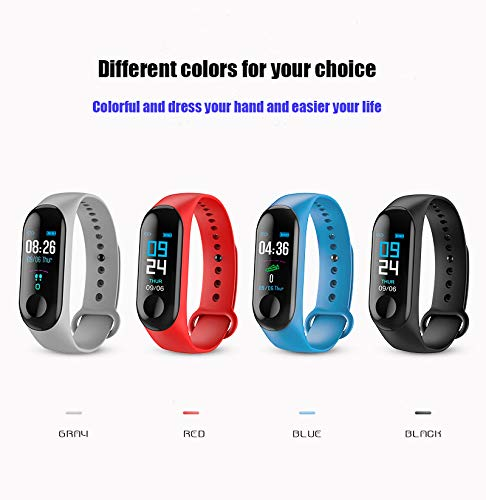 Fitness Tracker, Smart Wristband Heart Rate Monitor Activity Tracker with Connected GPS Tracker, Step Counter, Sleep Monitor, IP67 Waterproof Pedometer for Android and iOS Smartphone (Black)