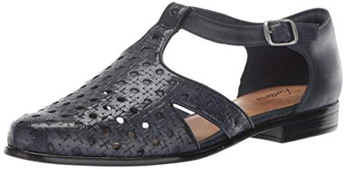 Trotters Women's Leatha Open Weave Sandal, Navy 10.0 M US