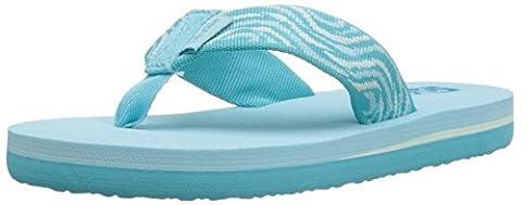 Teva Mush II Fashion Flip Flop Sandal (Toddler/Little Kid/Big Kid), Tides/Scuba Blue-T, 13 M US Little (Kid Teva Flip Flops)