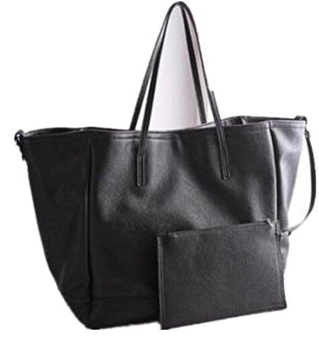 Taille Main Brun Cm Grande Mode Femme Fourre Bordeaux Ol Cuir tout 35 Noir Wealsex 20 Souple Elégant Sac 32 Shopping A ZxA6zF