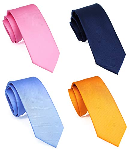 Pink/Navy/Blue/Orange Solid Skinny 2.5