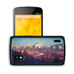 Snowy Mountain Landscape Nature Scenery Google Nexus 4 Mako Snap Cover Case