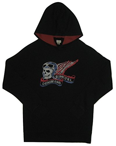 Polo Ralph Lauren Denim & Supply Ralph Lauren Mens Skull Graphic Hoodie Black L (Denim Ralph Polo Lauren)
