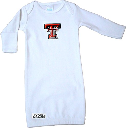 Future Tailgater Texas Tech Red Raiders Baby Layette Gown (Texas Tailgater Tech Raiders Red)