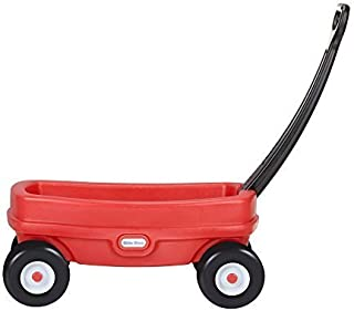 product image for Little Tikes Lil' Wagon – Red And Black, Indoor and Outdoor Play, Easy Assembly, Made Of Tough Plastic Inside and Out, Handle Folds For Easy Storage | Kids 18
