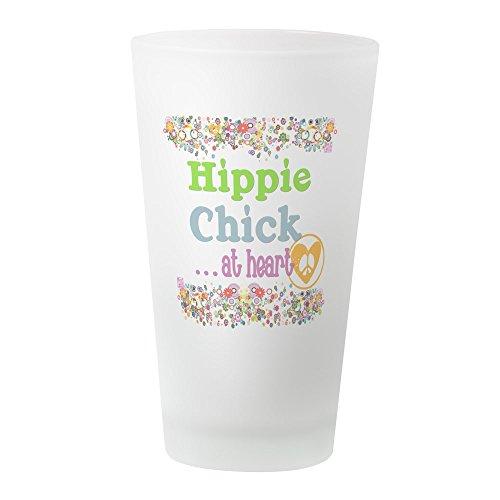 (CafePress Pillow-Hippie-Chick Pint Glass, 16 oz. Drinking Glass )