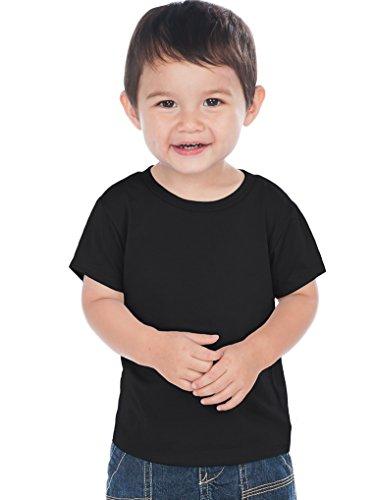 (Kavio! Unisex Infants Crew Neck Short Sleeve Tee (Same IJC0432) Black 18M)