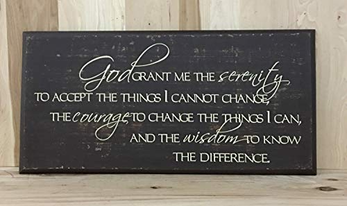 Olga212Patrick Serenity Prayer Wood Plaque Sign Christian Wall Art Religious Gift Confirmation Gift Custom Wood Plaque Sign Inspirational Wood Plaque Sign