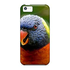 Fashionable Style Case Cover Skin For Iphone 5c- Rainbow Lorikeet Parrot