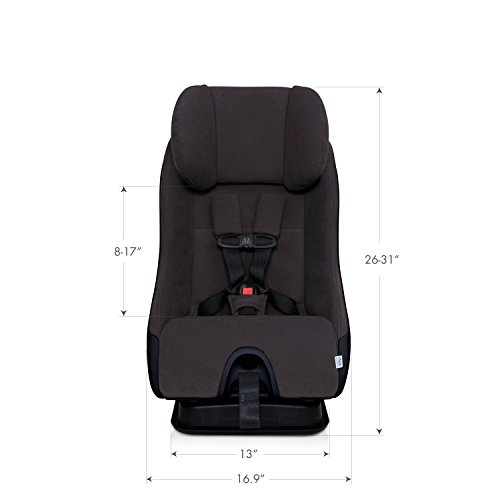 Clek Fllo Convertible Baby and Toddler Car Seat Rear and Forward Facing with Anti Rebound Bar, Noire