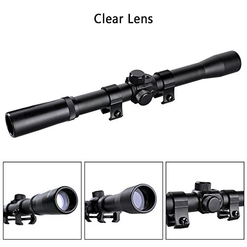Sniper Air Hunting Rifle Scope 4x20 Airgun Scopes Optics Fitted 11mm Mounts