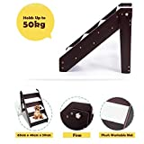 Foldable Pet Stairs,4-steps Dog Stairs Wooden Dog Steps Pet Bed Ladder Anti-slip Plush Covers Easy Climb For Cats Dogs-a 63x46x59cm(25x18x23inch)