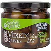 Absolute Organic Mixed Olives with Herbs, 300g